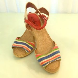 Like New Multicolor Lucky Brand Wedges Size 6.5
